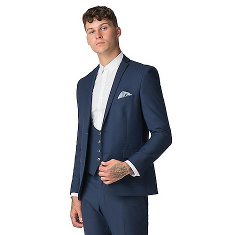 Red Herring - Sapphire twill skinny fit suit
