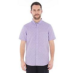 Jeff Banks - Lilac dobby linen shirt