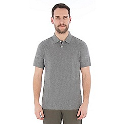 Jeff Banks - Grey textured stitch polo shirt