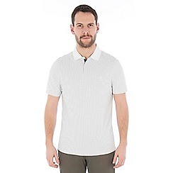 Jeff Banks - Off white textured stitch polo shirt