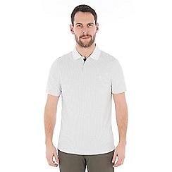 Jeff Banks - Off white textured stitch polo shirt
