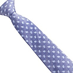 Stvdio by Jeff Banks - Linen mix micro paisley tie