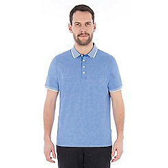 Jeff Banks - Blue mini stripe polo shirt