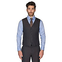 Hammond & Co. by Patrick Grant - Navy brown puppytooth wool blend 6 button tailored fit suit waistcoat