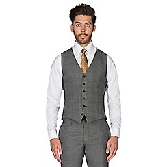 Hammond & Co. by Patrick Grant - Grey tonal brushed check wool blend 6 button tailored fit suit waistcoat