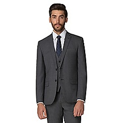 Racing Green - Grey jaspe gingham suit