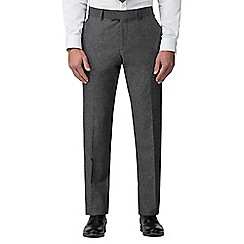 J by Jasper Conran - Grey donegal wool blend tailored fit suit trouser