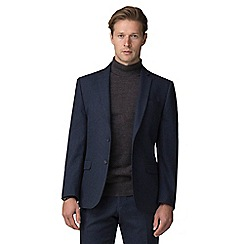 J by Jasper Conran - Blue donegal tailored fit jacket