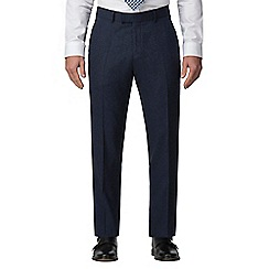 J by Jasper Conran - Blue donegal tailored fit trouser