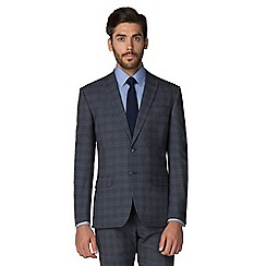 Racing Green - Blue with rust check tailored suit