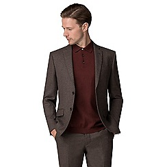 J by Jasper Conran - Brown textured tailored fit jacket