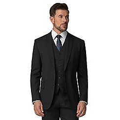 Stvdio by Jeff Banks - Grey textured 2 button tailored fit performance suit
