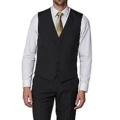 The Collection - Charcoal plain regular fit waistcoat