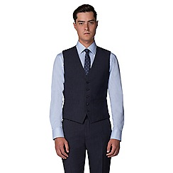 The Collection - Deep blue semi plain tailored fit waistcoat
