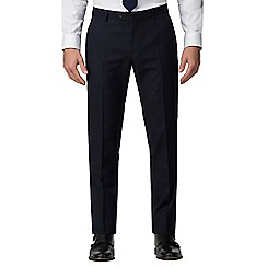 The Collection - Navy broken check tailored fit trousers