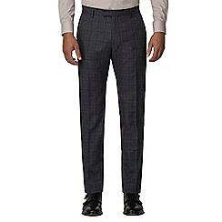 Red Herring - Navy heritage check slim fit trousers