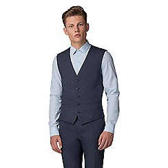 Red Herring - Slate blue jaspe slim fit waistcoat
