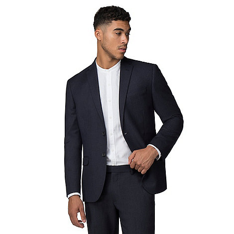 Red Herring - Midnight tonal semi plain slim suit