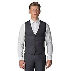 Ben Sherman - Charcoal speckle tailored fit waistcoat