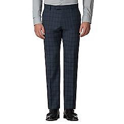 Ben Sherman - Slate jaspe check tailored fit trouser