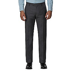 Ben Sherman - Charcoal blue gingham slim fit trouser