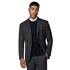 Ben Sherman - Slate heritage check slim fit jacket