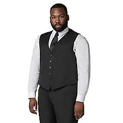 Centaur Big & Tall - Plain black twill waistcoat