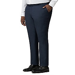 Centaur Big & Tall - Navy semi plain trousers