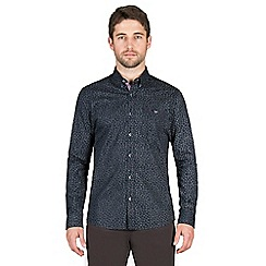 Jeff Banks - Navy distressed floral print shirt