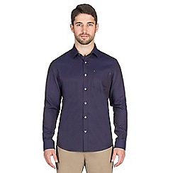 Jeff Banks - Navy dot dobby shirt