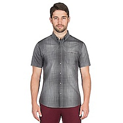 Jeff Banks - Grey graded check shirt