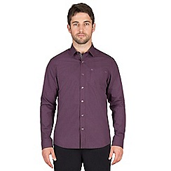 Jeff Banks - Berry marl gingham shirt