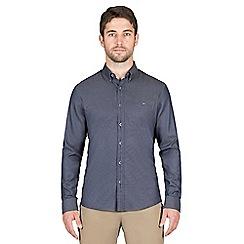 Jeff Banks - Navy window dobby shirt