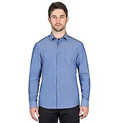 Jeff Banks - Blue spot chambray shirt