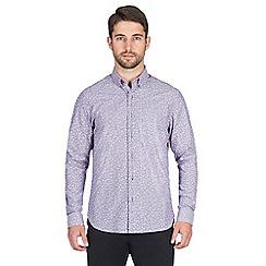 Jeff Banks - Purple stripe print shirt