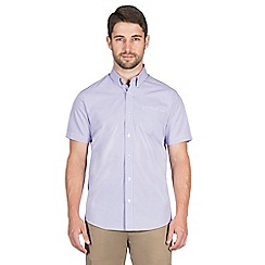 Jeff Banks - Lilac dobby check shirt