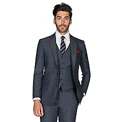 Hammond & Co. by Patrick Grant - Slate puppytooth 2 button front tailored fit St. James suit jacket