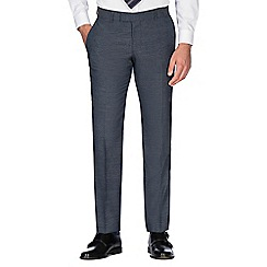 Hammond & Co. by Patrick Grant - Slate puppytooth wool blend plain front tailored fit suit trouser