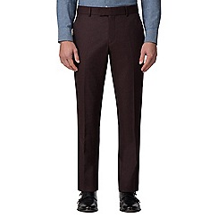 J by Jasper Conran - Burgundy flannel tailored trouser