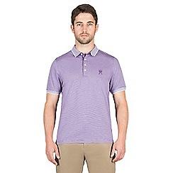 Jeff Banks - Lilac mini stripe polo shirt
