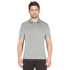 Jeff Banks - Grey square dobby polo shirt