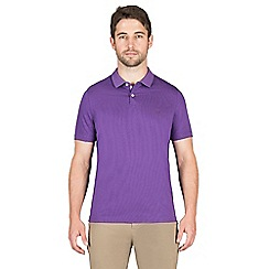 Jeff Banks - Lilac wavy jacquard polo shirt