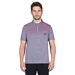 Jeff Banks - Blue two tone pique polo shirt