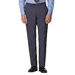 Jeff Banks - Airforce semi plain wool blend flat front regular fit suit trouser
