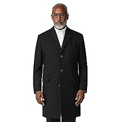 The Collection - Black melton overcoat
