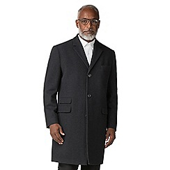 The Collection - Charcoal melton overcoat