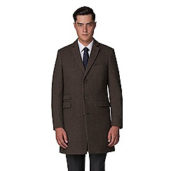 Racing Green - Oatmeal donegal overcoat