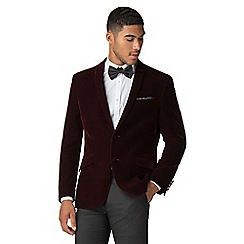 Red Herring - Merlot velvet slim fit jacket