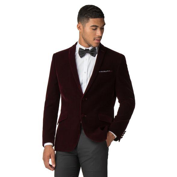 fit slim Red Herring velvet Merlot jacket wUOwIqtS
