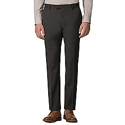 Red Herring - Deep green melange slim fit trousers